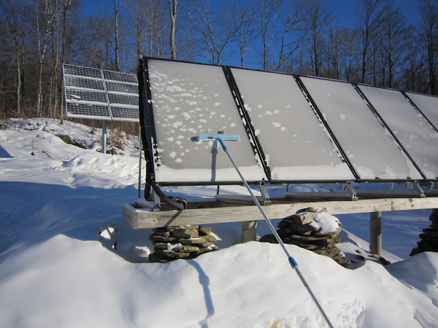Uhoh The Solar Panels Are Covered In Snow Snow Removal