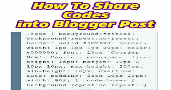share code snippets into blogger post