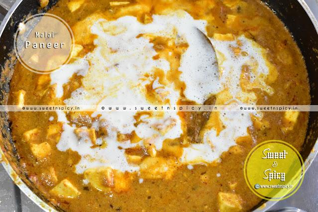 Malai Paneer Curry