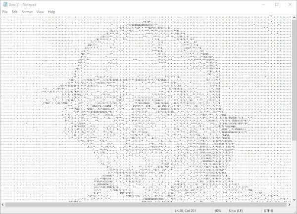 ASCII art of Bosch's art