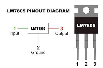 Fungsi Pin IC 7805 dan Cara Pakainya