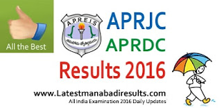 APRJC CET Results 2016, Selection List, APRJC 2016 Results Rank wise, APRDC Results 2016, Manabadi APRJC Results 2016