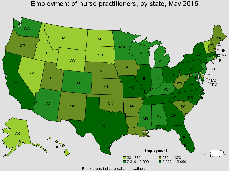 nurse practitioner salary in the usa