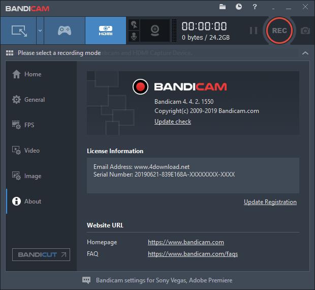 Bandicam v4.4.2.1550 Full version free download