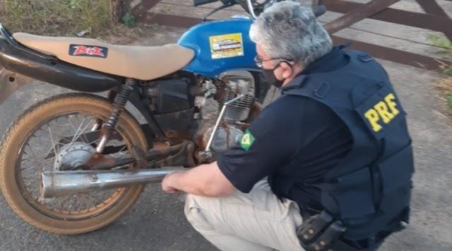 PRF: Moto roubada é apreendida em Campo Maior