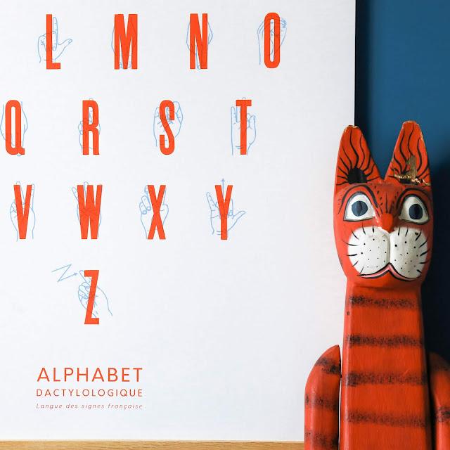 Affiche Alphabet Dactylologique