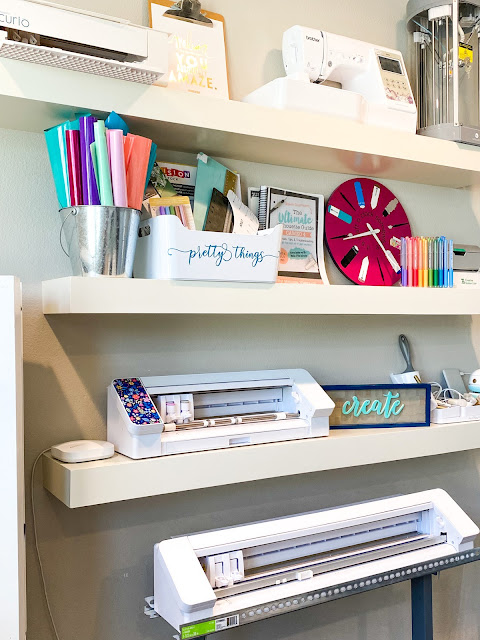 craft room, home office, silhouette cameo, heat press, craft rooms,
