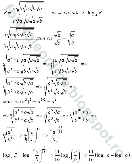 logarithm with radicals under radicals