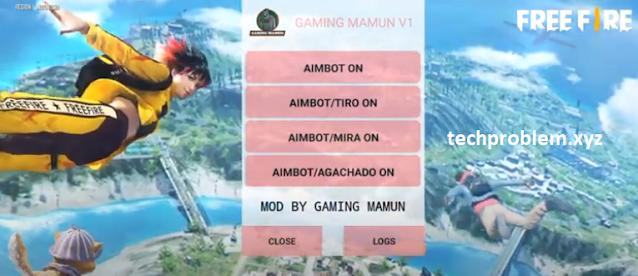 Free Fire Mod Menu Gaming Mamun V1 VIP (FF 1.65) Aimbot Espline Teleport Auto Headshot Antiban