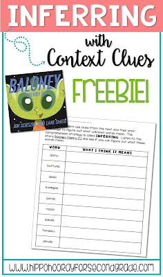 Awesome FREEBIE lesson for teaching inferring with context clues at the word level!