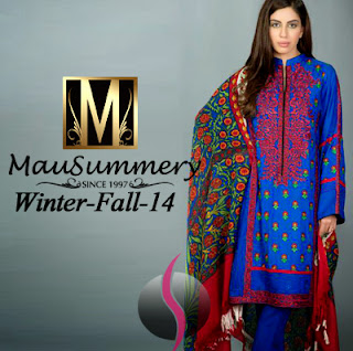 aa19947cf4 In this winter fall dress collection 2014-2015 Volume 1 all the dresses are  paired with pashimna shawls which look awesome and decent. Mausummery winter  ...