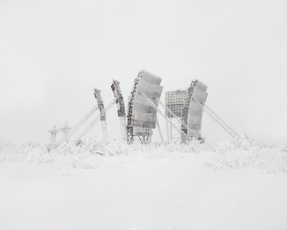 Antenas troposféricas en la nieve