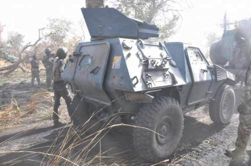 News In Pictures: Checkout The Battle Tanks Nigerian Troops Just Recovered From Boko Haram