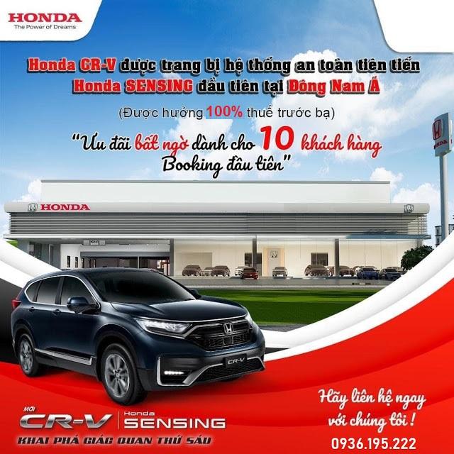 Honda CR-V 2021 bản lắp ráp CKD đăng ký lái thử xe với hệ thống Honda Sensing, Lanewatch, đặt trước xe| Honda CRV Facelift