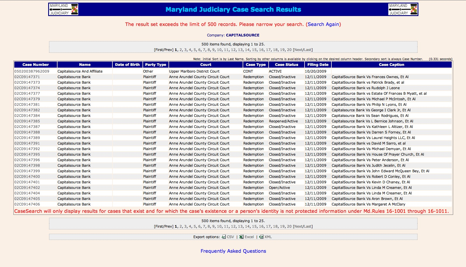 maryalnd case search - maryland judiciary case search
