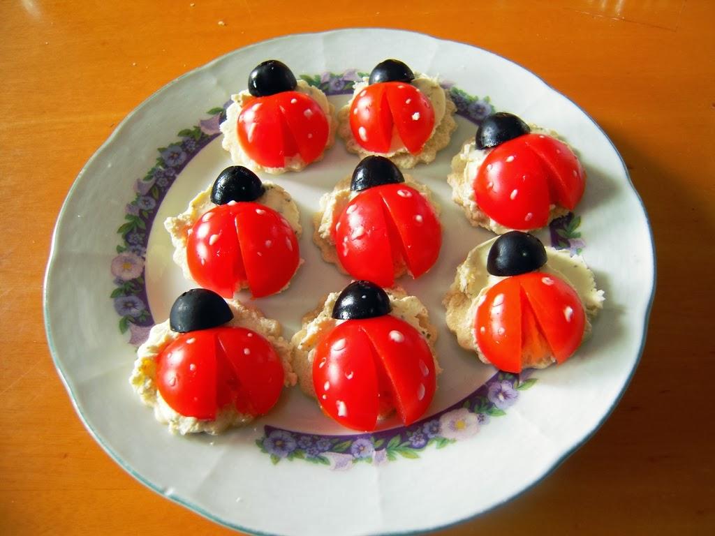 El placer de cocinar canap s mariquita - Como hacer un canape ...