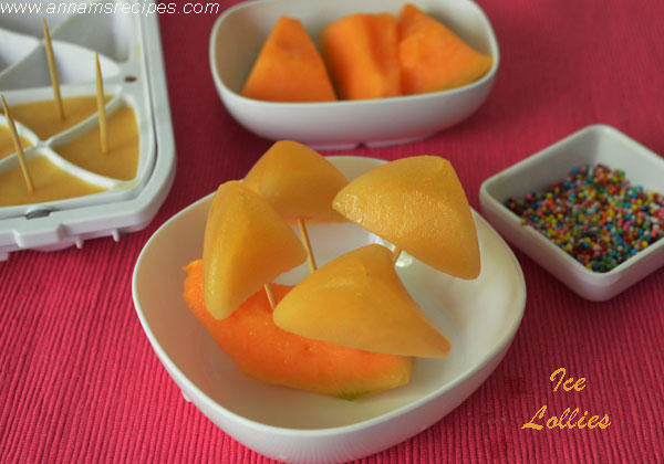 Cantaloupe Ice Lollies