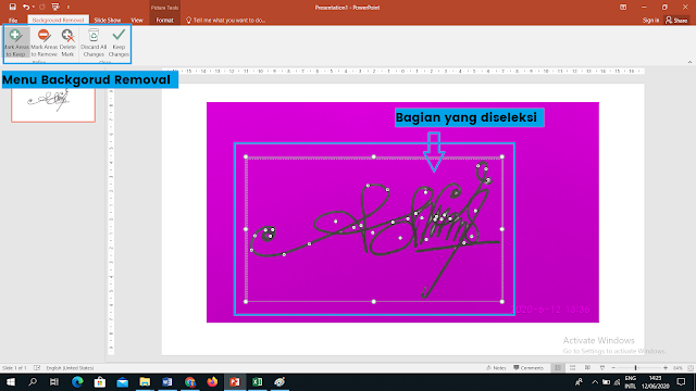 Menghapus background di power point
