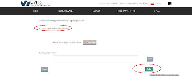 Rejstracja domeny jest możliwa