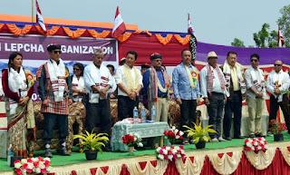 Janmukti Lepcha Organisation at Lyang Ramfat prog