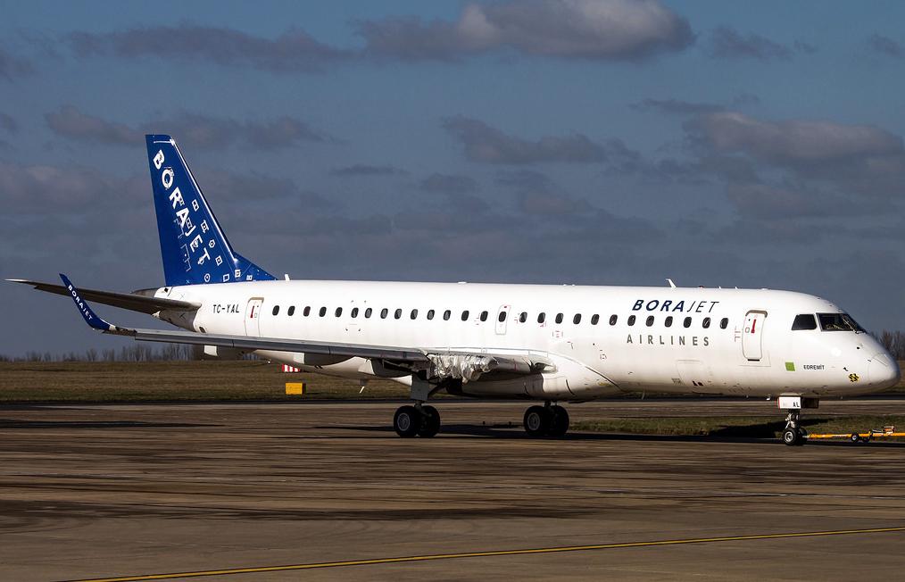 Borajet Airilnes Embraer E195 Taxiing Runway