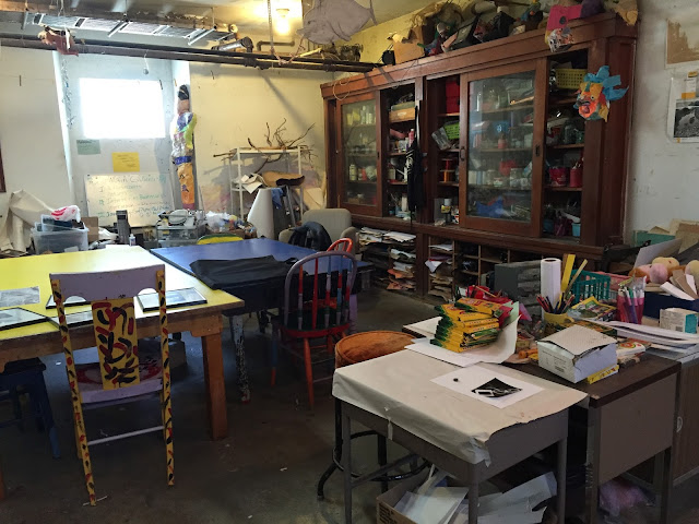 Lively creative space in the Spectrum School in Racine, Wisconsin