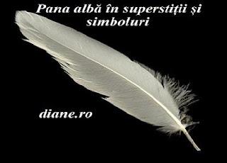 Pana albă în superstiții și simboluri