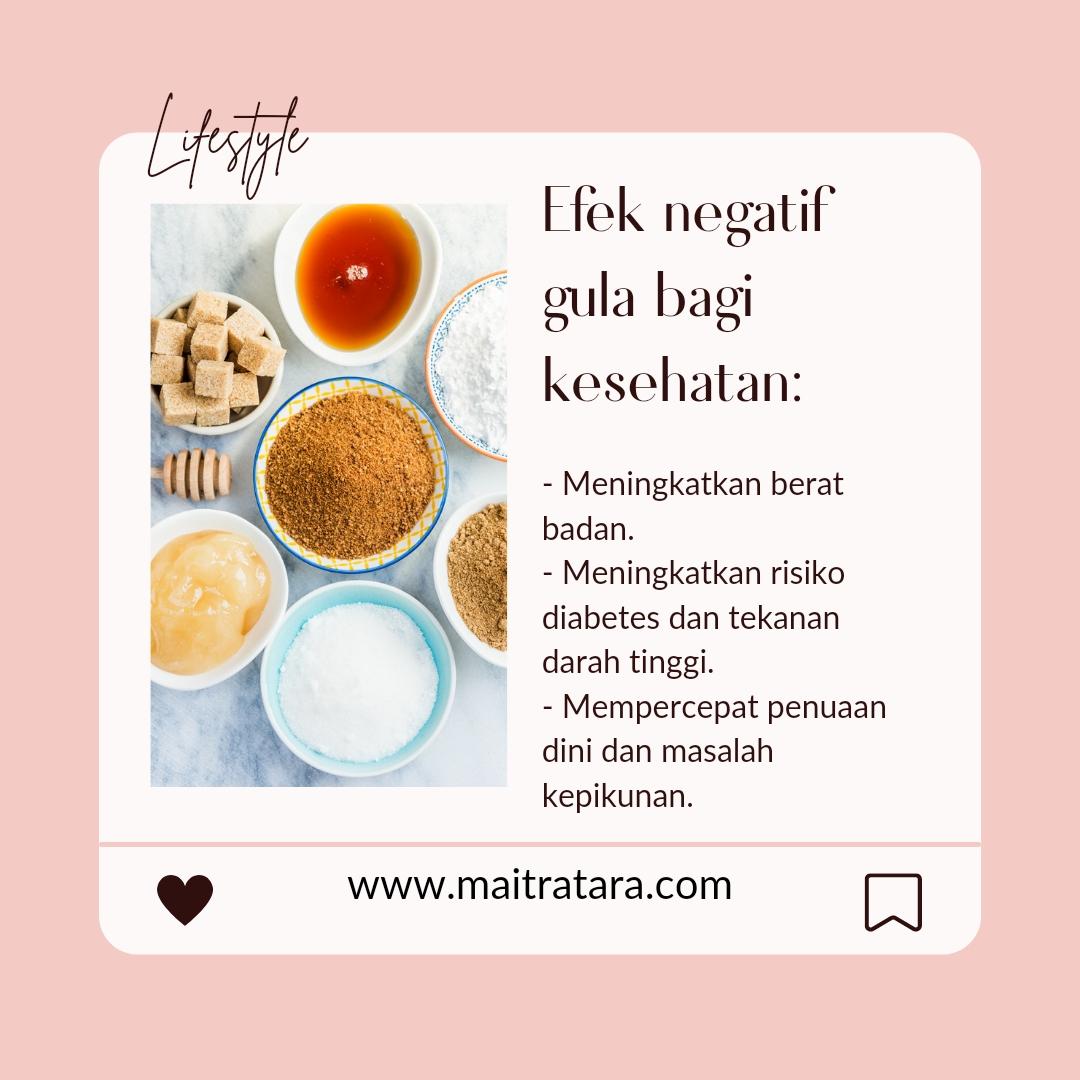 Efek negatif gula bagi tubuh
