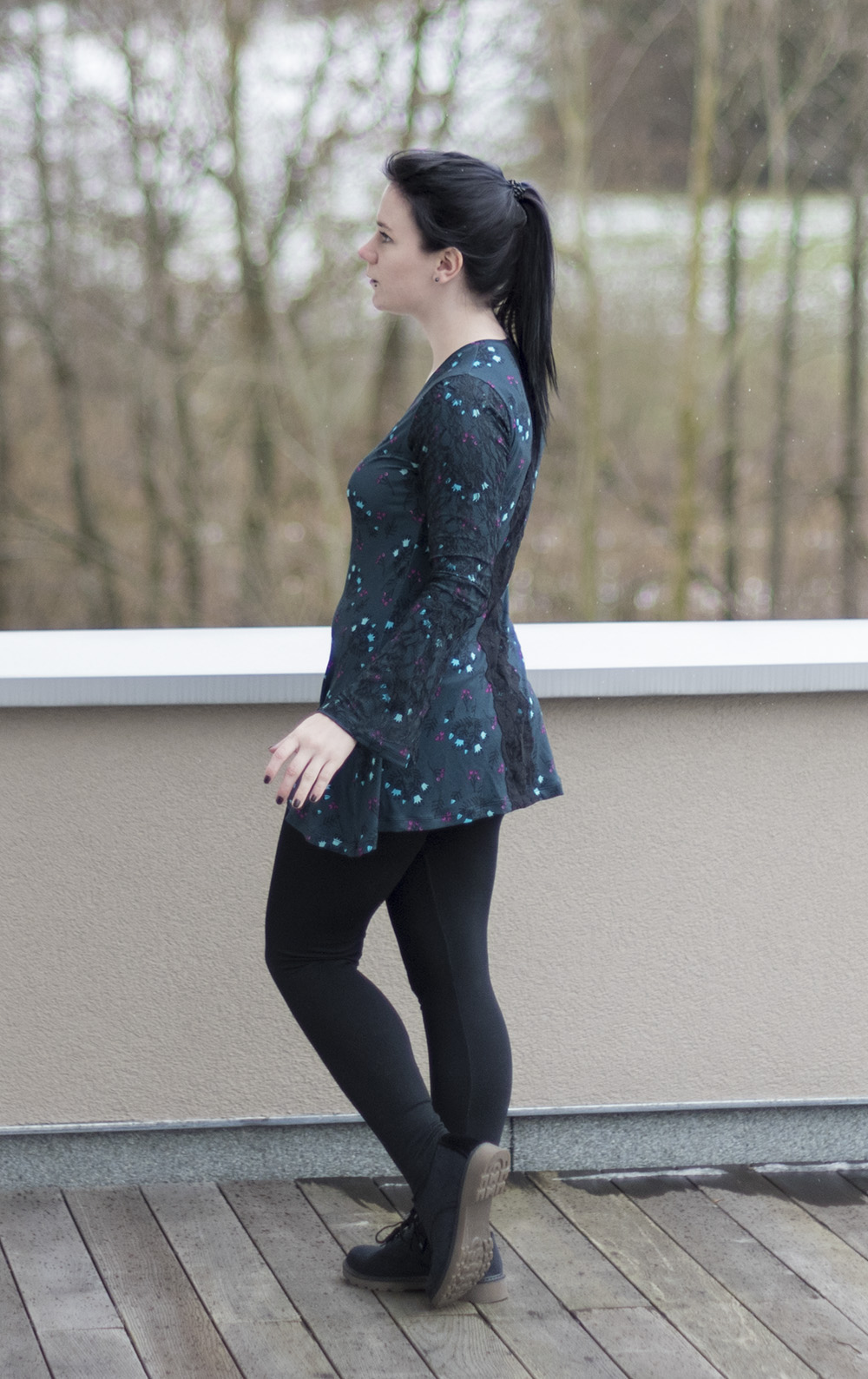 Spring Sewing a Bell Sleeve Top (Ellie & Mac pattern) sporty style fashion selfmade