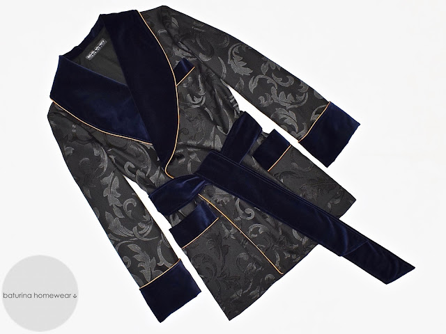 mens luxury morning robe velvet smoking jacket paisley silk dressing gown