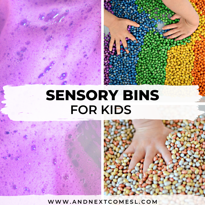 Sensory bins for kids