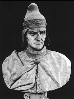 A bust of Andrea Dandolo, sculpted by Lorenzo Larese Moretti in 1861