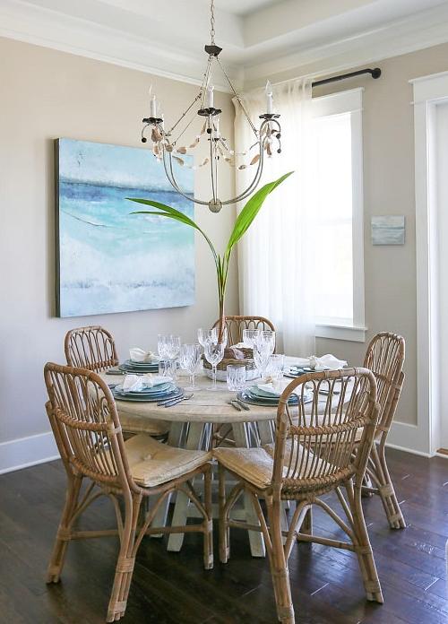 Coastal Decor Ideas Interior Design, Beach Dining Room Table