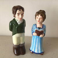Regency couple salt and pepper shakers