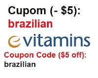 evitamins e vitamins brasil importação vitaminas suplementos coupon code código descontos