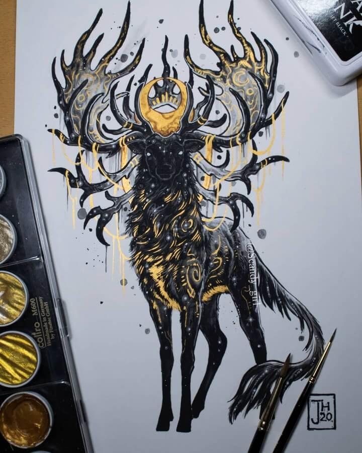 05-Nine-horned-deer-Mythology-Jonna-Hyttinen-www-designstack-co