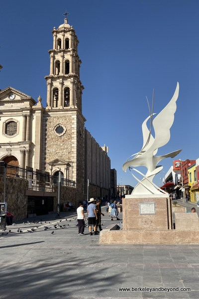 exterior of La Mision de Nuestra Senora Guadalupe in Juarez, Mexico