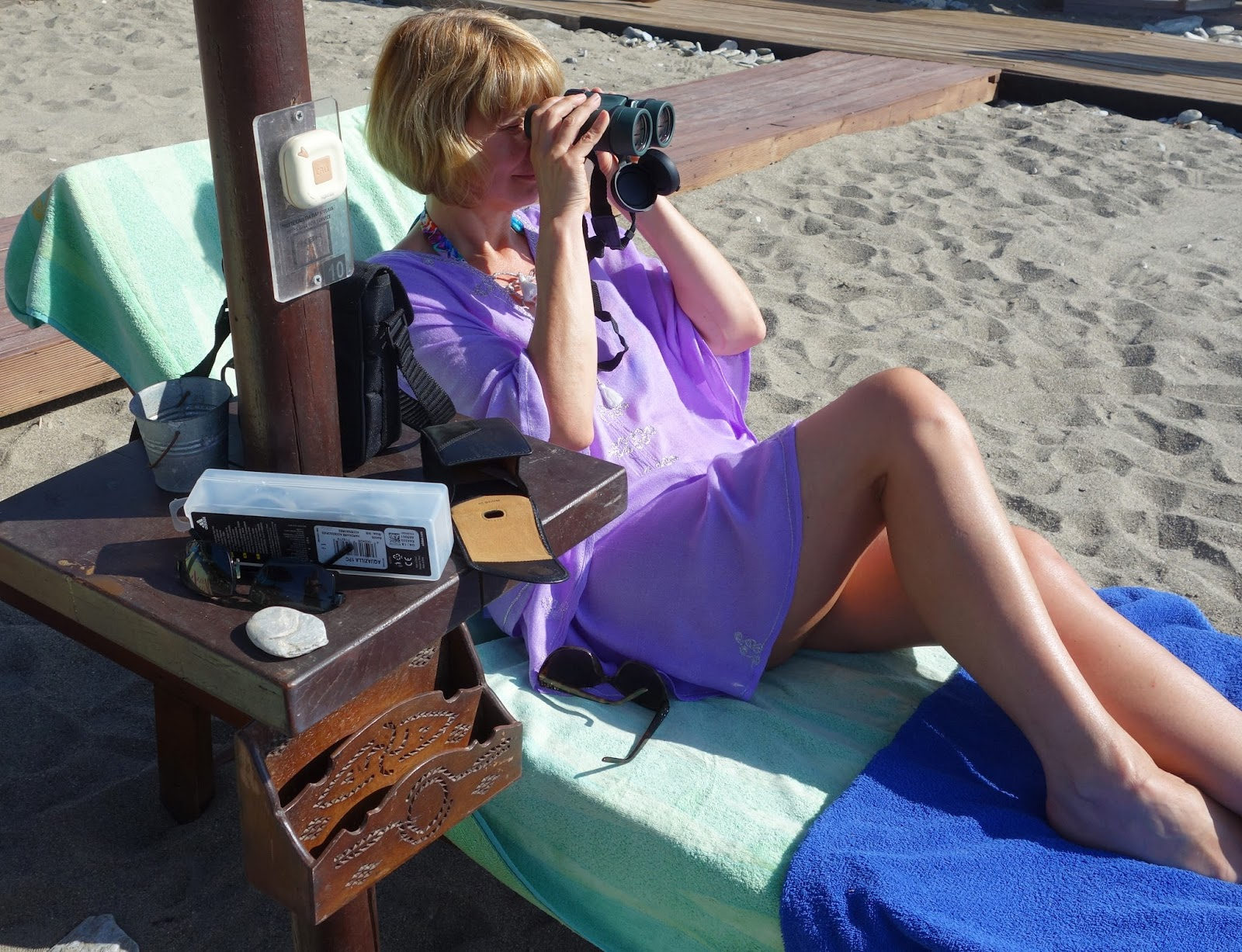 Binoculars are a great addition to the holiday suitcase if there are ships to watch