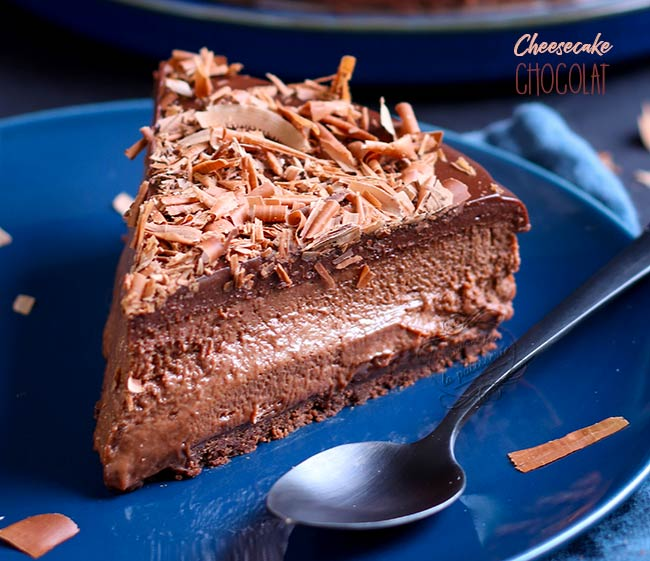 recette cheesecake chocolat