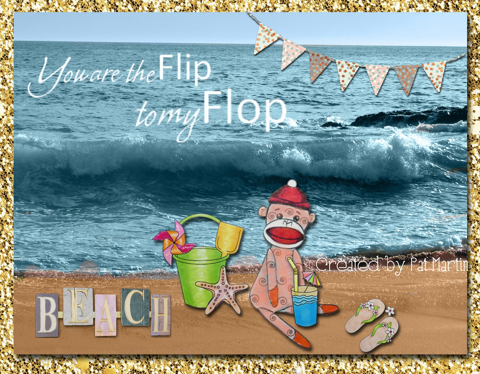 Patacake pages join the summer beach party at the outlawz monday this card is a hybrid in that all my images are hand colored then placed digitally onto a scene i created my scene is actually a photo that i took while kristyandbryce Images