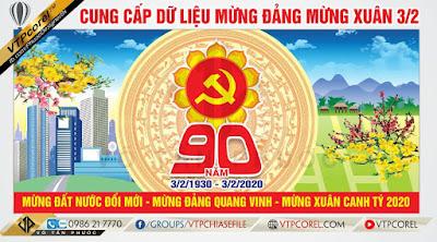 Pano 3/2 Mừng Đảng Mừng Xuân 2020 CDR12