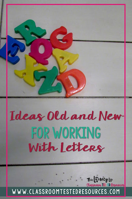 Working with letters can be fun and engaging with students. It helps them to learn many of those important literacy skills and be ready to read
