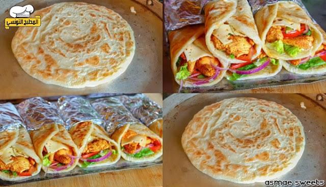 خبز البراتا الهندي بالدجاج