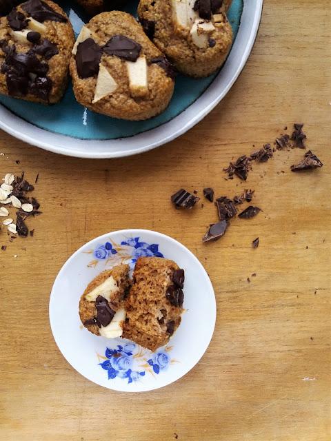 Zdrowe muffinki owsiane bez cukru bezglutenowe