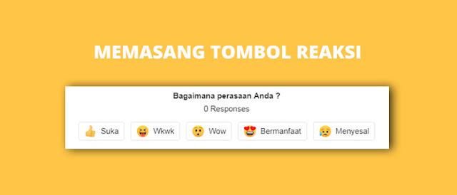 Cara Memasang Tombol Reaksi di Blog dengan Disqus Tanpa Ribet