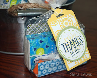 Easy gifts using the Perfectly Wrapped stamp set