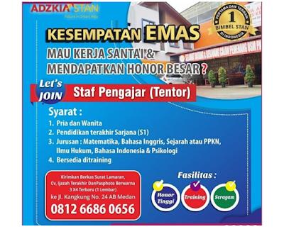 Rekrutmen Kerja Terbaru Medan Staff Pengajar November 2019