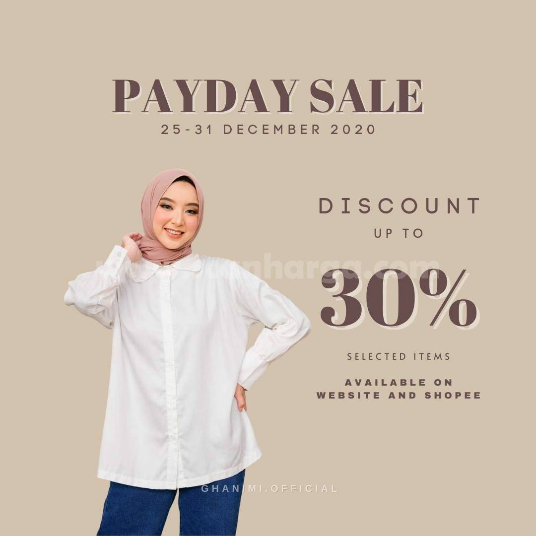 Promo GHANIMI PAYDAY SALE! Discount up to 30% Selected Items