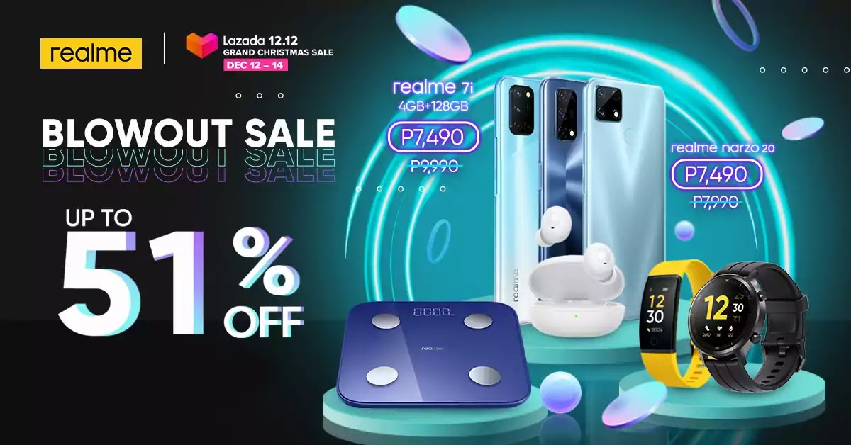 realme Philippines x Lazada 12.12 Grand Christmas Sale