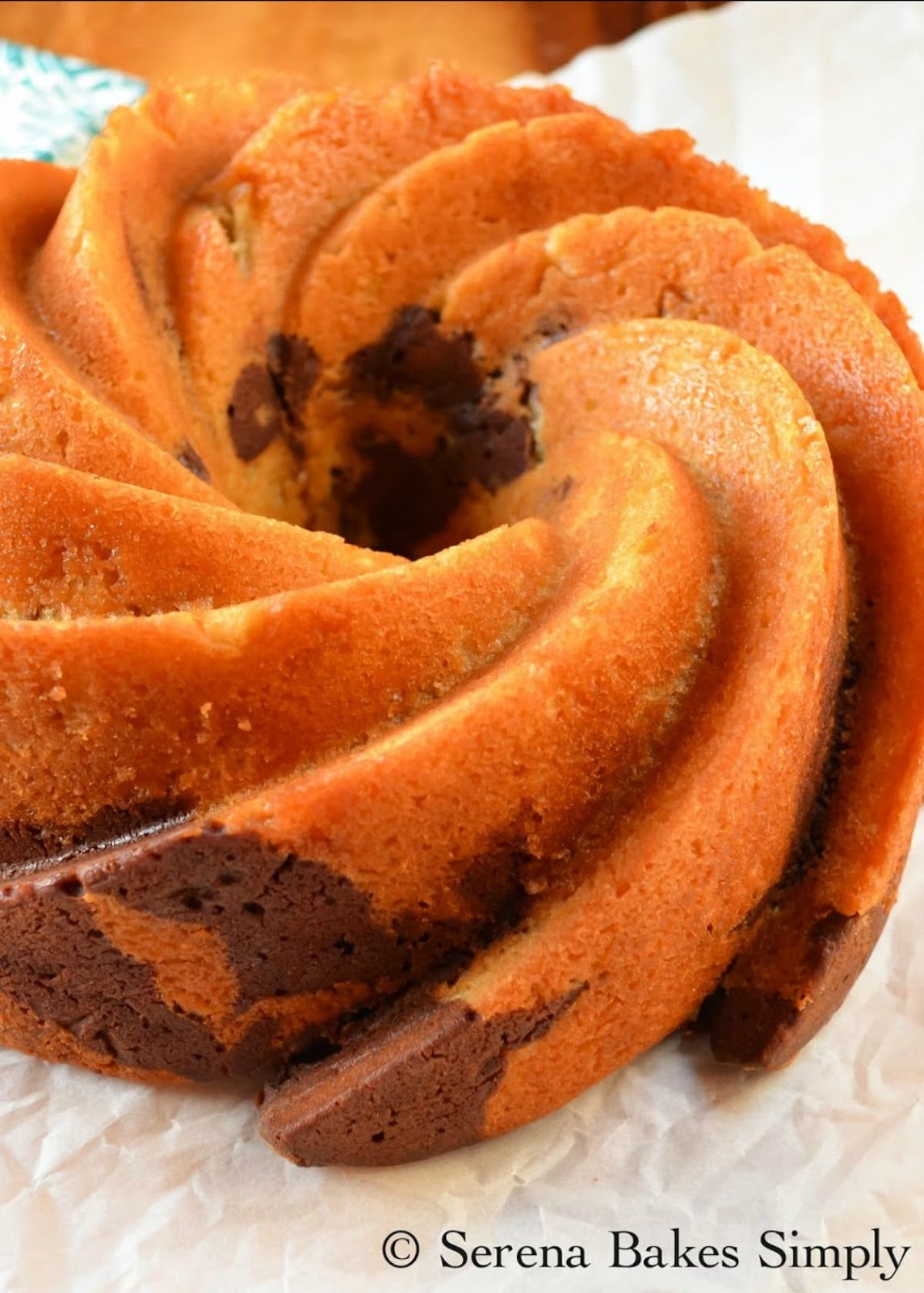 Buttermilk Marble Chocolate Bundt Cake recipe.